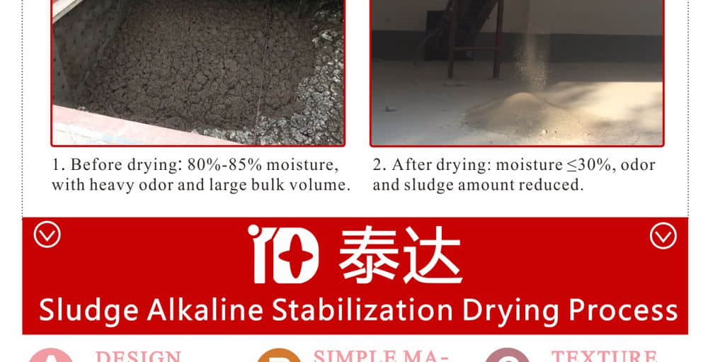sluge stabilization alkaline drying line